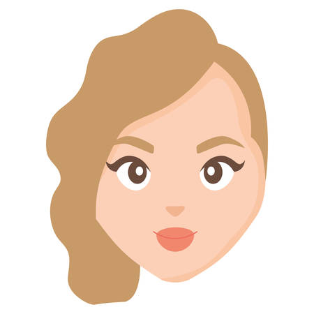 beautiful and young woman head character vector illustration design Reklamní fotografie - 124723976