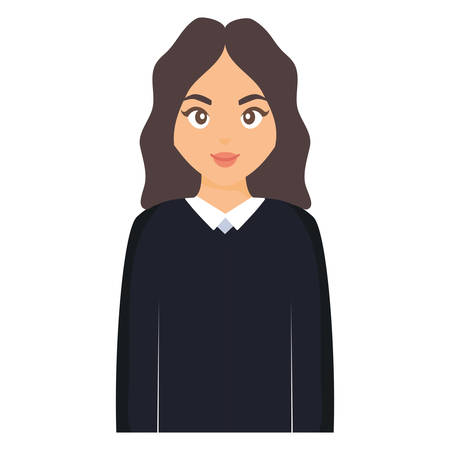 beautiful and young woman character vector illustration design Ilustrace