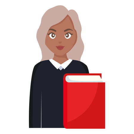 young student black woman with book vector illustration design Reklamní fotografie - 124724049
