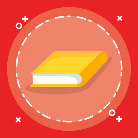 text book isolated icon vector illustration design Ilustrace