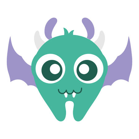 crazy monster with wings comic character vector illustration design Banque d'images - 124725550