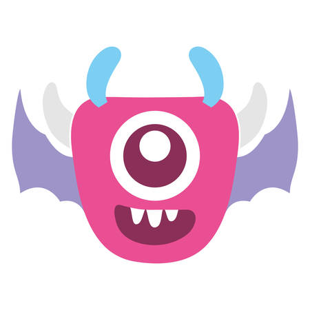 crazy monster with wings comic character vector illustration design Banque d'images - 124725551
