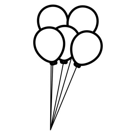 balloons helium floating icon vector illustration design Фото со стока - 124725648