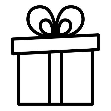 gift box present icon vector illustration design Иллюстрация