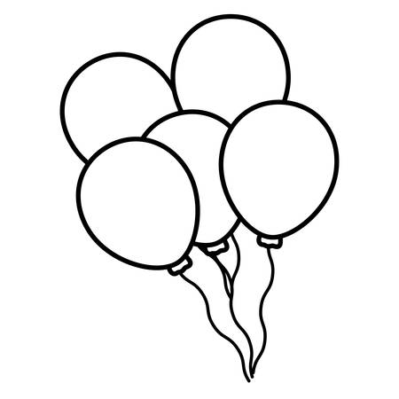 balloons helium floating icon vector illustration design Фото со стока - 124725651