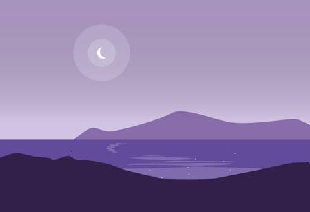 beautiful lake landscape scene vector illustration design