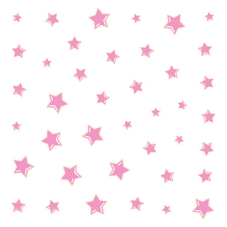 background decoration celebration pink stars vector illustration
