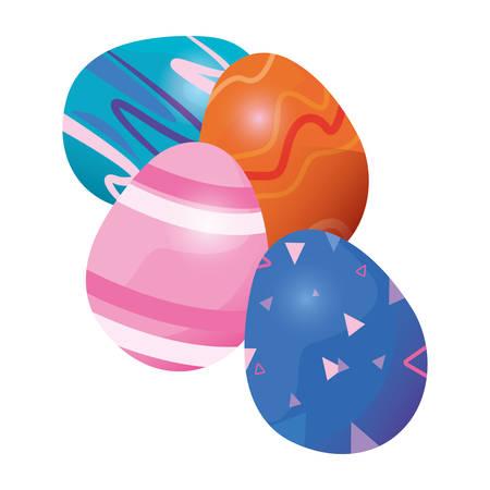 eggs memphis decoration happy easter card vector illustration Фото со стока - 124725817