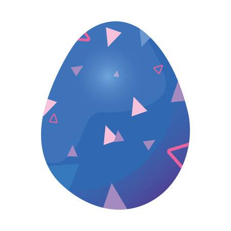 glowing egg decorating design happy easter vector illustration Ilustração