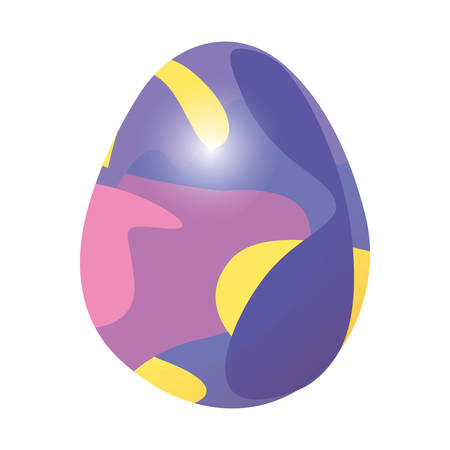 glowing egg decorating design happy easter vector illustration Фото со стока - 124725907
