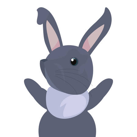 cute rabbit animal on white background vector illustration Illustration