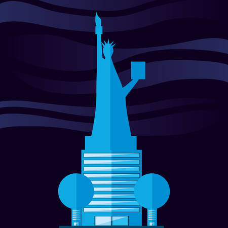 statue of liberty structure isolated icon vector illustration design