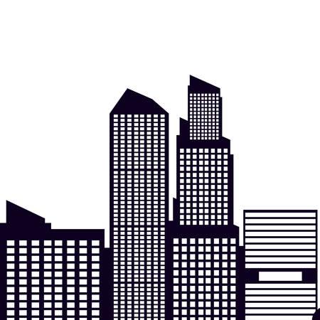 buildings cityscape scene isolated icon vector illustration design
