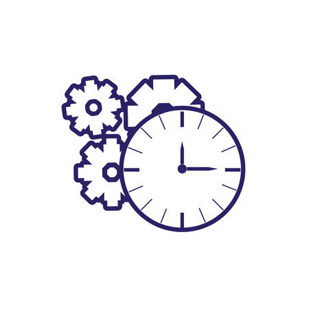 time watch with gears pinion vector illustration design Vektorové ilustrace