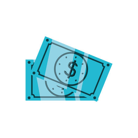 bills dollar money isolated icon vector illustration design Illustration