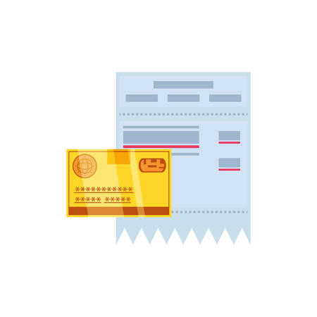 voucher with credit card money isolated icon vector illustration design