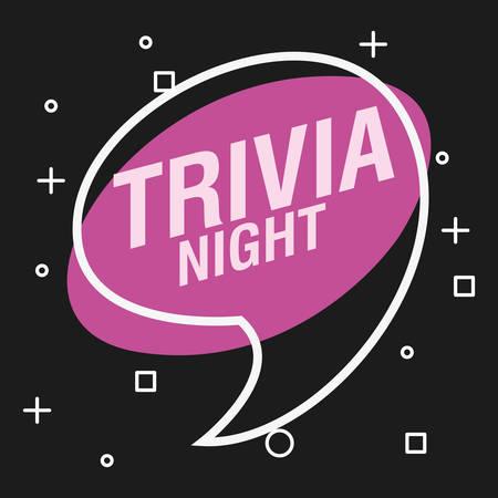 Trivia Nacht Sprechblase Ankündigung Vektor-Illustration
