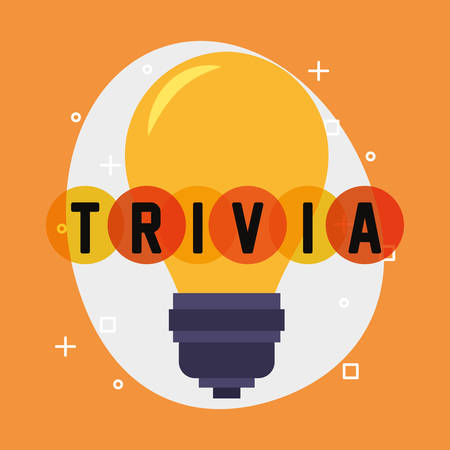 trivia night bulb think poster vector illustration 矢量图像