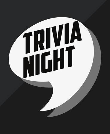 trivia night speech bubble announcement vector illustration Illustration