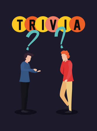 trivia night - men question signal vector illustration Imagens - 124675473