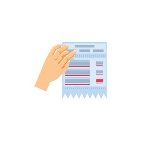 hand with paper voucher isolated icon vector illustration design