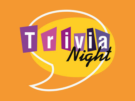 trivia nuit discours bulle annonce vector illustration
