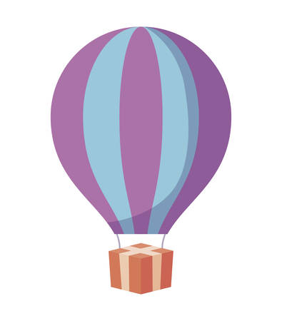 balloon air hot isolated icon vector illustration design