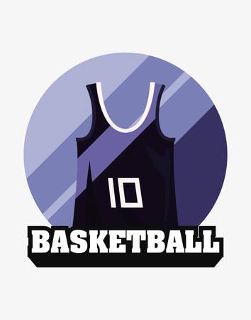 basketball tank top sport jersey vector illustration