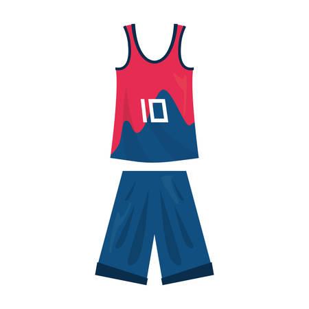 basketball uniform sport jersey shorts vector illustration Stock Vector - 124466177