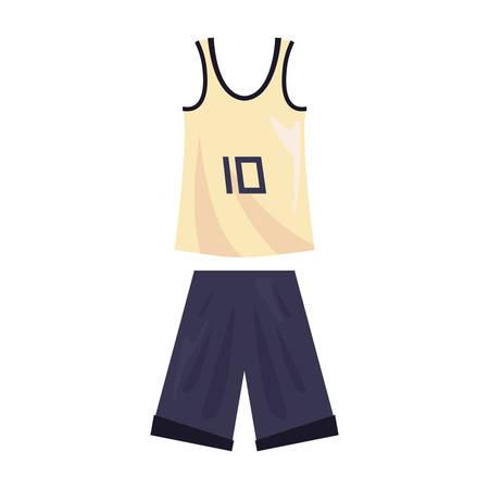 basketball uniform sport jersey shorts vector illustration