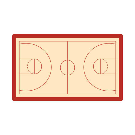 basketball tank top sport jersey on court floor vector illustration Stock Vector - 124466179