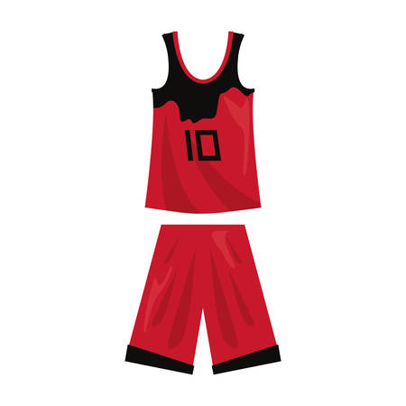 basketball uniform sport jersey shorts vector illustration Stock Vector - 124466182