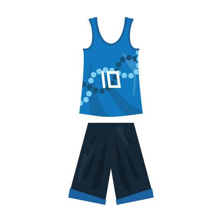 basketball uniform sport jersey shorts vector illustration Stock Vector - 124466186