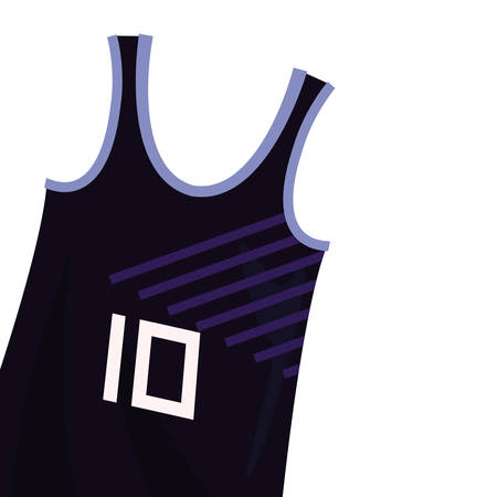 basketball tank top sport jersey vector illustration Stock Vector - 124466206