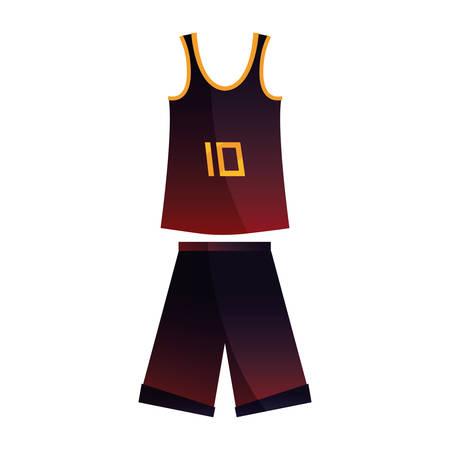 basketball uniform sport jersey shorts vector illustration Stock Vector - 124466229