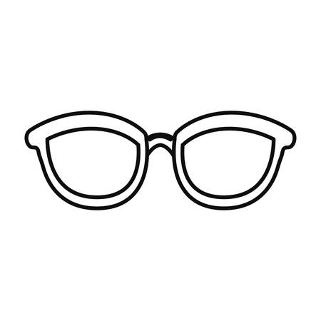 eyeglasses accessory icon on white background vector illustration Foto de archivo - 118757203