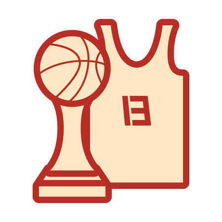 basketball tank top sport jersey trophy vector illustration Illustration