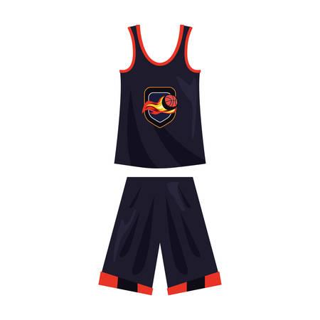 basketball uniform sport jersey shorts vector illustration Stock Vector - 124466277