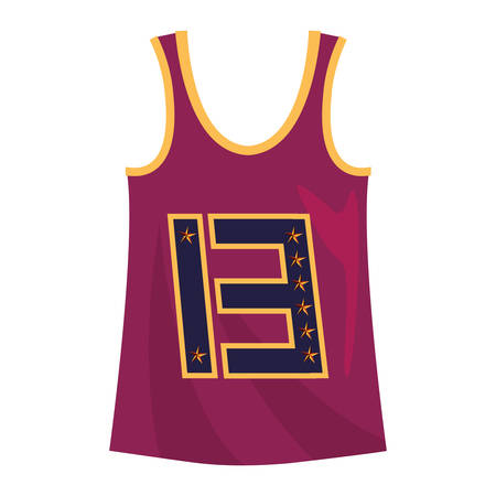 basketball tank top sport jersey uniform vector illustration
