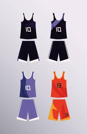 basketball uniform sport jersey shorts set vector illustration Stock Vector - 124466362