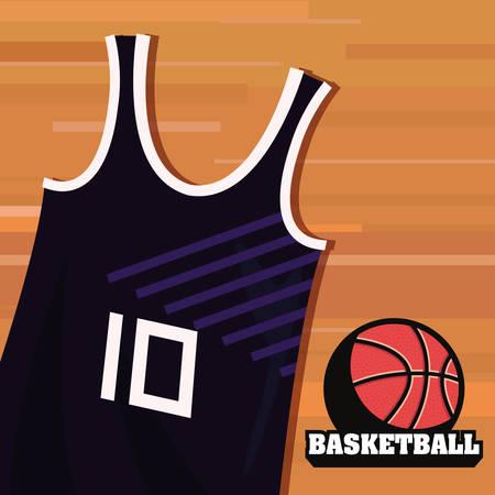 basketball tank top sport jersey ball vector illustration