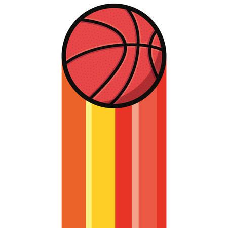 basketball sport ball poster design vector illustration Illustration