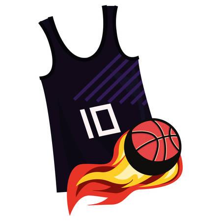 basketball tank top sport jersey ball vector illustration Stock Vector - 124466515