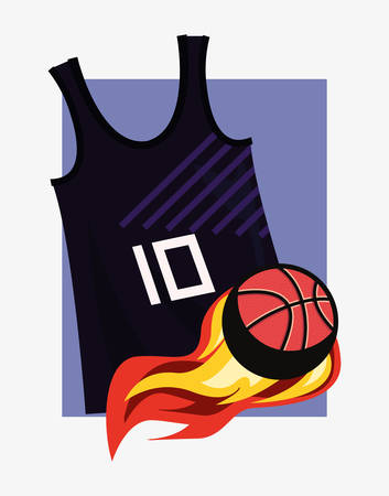 basketball tank top sport jersey ball vector illustration Illustration