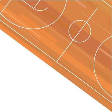 basket-ball, sport, parquet, plancher, vecteur, illustration