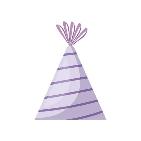 party hat decorative icon vector illustration design
