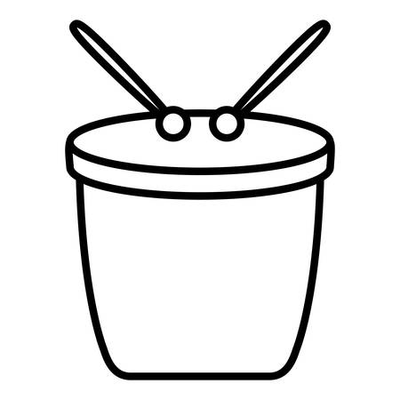carnival bongo instrument icon vector illustration design