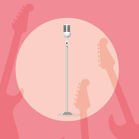 microphone singer isolated icon vector illustration design