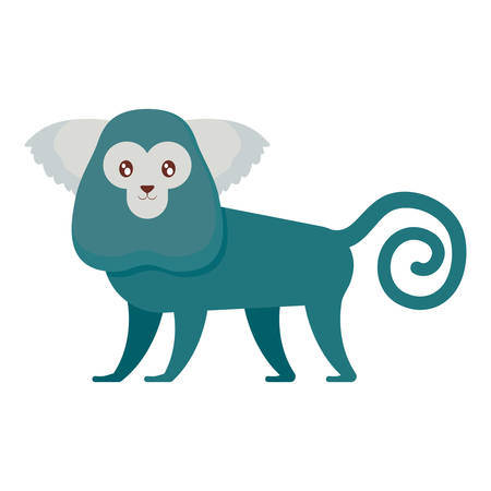 cute exotic monkey character vector illustration design