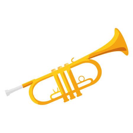 trumpet instrument musical icon vector illustration design
